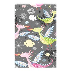 Dragonfly Animals Dragom Monster Fair Cloud Circle Polka Shower Curtain 48  X 72  (small)  by Mariart