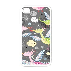 Dragonfly Animals Dragom Monster Fair Cloud Circle Polka Apple Iphone 4 Case (white) by Mariart