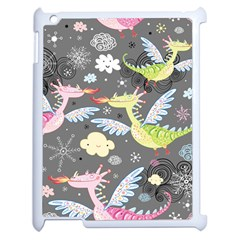Dragonfly Animals Dragom Monster Fair Cloud Circle Polka Apple Ipad 2 Case (white) by Mariart