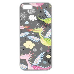Dragonfly Animals Dragom Monster Fair Cloud Circle Polka Apple Seamless Iphone 5 Case (clear) by Mariart