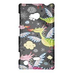 Dragonfly Animals Dragom Monster Fair Cloud Circle Polka Nokia Lumia 720 by Mariart
