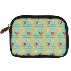 Ice Skates Background Christmas Digital Camera Cases by Mariart