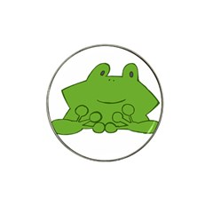 Illustrain Frog Animals Green Face Smile Hat Clip Ball Marker (10 Pack) by Mariart