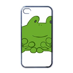 Illustrain Frog Animals Green Face Smile Apple Iphone 4 Case (black) by Mariart