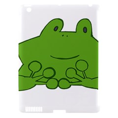 Illustrain Frog Animals Green Face Smile Apple Ipad 3/4 Hardshell Case (compatible With Smart Cover) by Mariart