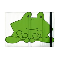Illustrain Frog Animals Green Face Smile Apple Ipad Mini Flip Case by Mariart