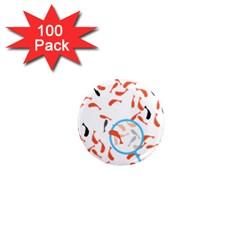 Illustrain Goldfish Fish Swim Pool 1  Mini Magnets (100 Pack)  by Mariart