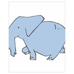 Illustrain Elephant Animals Drawstring Bag (small) by Mariart