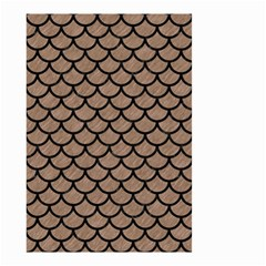 Scales1 Black Marble & Brown Colored Pencil (r) Small Garden Flag (two Sides) by trendistuff