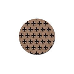 Royal1 Black Marble & Brown Colored Pencil Golf Ball Marker (4 Pack) by trendistuff