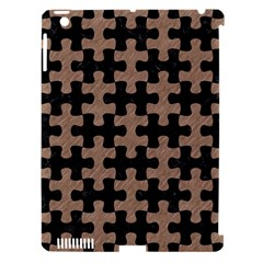 Puzzle1 Black Marble & Brown Colored Pencil Apple Ipad 3/4 Hardshell Case (compatible With Smart Cover) by trendistuff