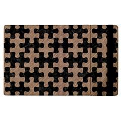 Puzzle1 Black Marble & Brown Colored Pencil Apple Ipad 2 Flip Case by trendistuff