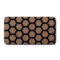 Hexagon2 Black Marble & Brown Colored Pencil (r) Medium Bar Mat by trendistuff
