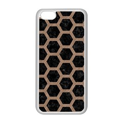 Hexagon2 Black Marble & Brown Colored Pencil Apple Iphone 5c Seamless Case (white) by trendistuff