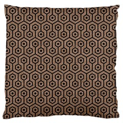 Hexagon1 Black Marble & Brown Colored Pencil (r) Standard Flano Cushion Case (one Side) by trendistuff