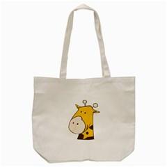Illustrain Giraffe Face Animals Tote Bag (cream) by Mariart