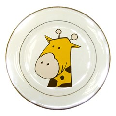 Illustrain Giraffe Face Animals Porcelain Plates by Mariart