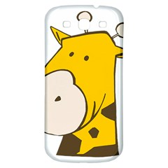 Illustrain Giraffe Face Animals Samsung Galaxy S3 S Iii Classic Hardshell Back Case by Mariart