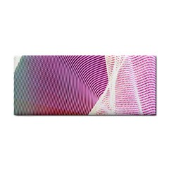 Light Means Net Pink Rainbow Waves Wave Chevron Cosmetic Storage Cases by Mariart