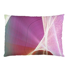 Light Means Net Pink Rainbow Waves Wave Chevron Pillow Case by Mariart