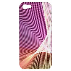 Light Means Net Pink Rainbow Waves Wave Chevron Apple Iphone 5 Hardshell Case by Mariart