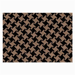 Houndstooth2 Black Marble & Brown Colored Pencil Large Glasses Cloth by trendistuff