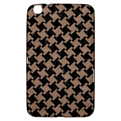 Houndstooth2 Black Marble & Brown Colored Pencil Samsung Galaxy Tab 3 (8 ) T3100 Hardshell Case  by trendistuff