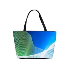 Light Means Net Pink Rainbow Waves Wave Chevron Green Blue Shoulder Handbags by Mariart