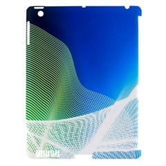 Light Means Net Pink Rainbow Waves Wave Chevron Green Blue Apple Ipad 3/4 Hardshell Case (compatible With Smart Cover) by Mariart