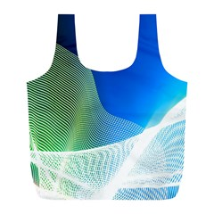 Light Means Net Pink Rainbow Waves Wave Chevron Green Blue Full Print Recycle Bags (l)  by Mariart