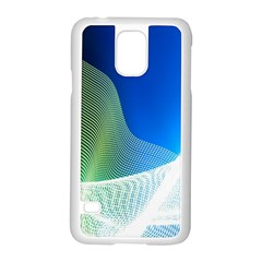 Light Means Net Pink Rainbow Waves Wave Chevron Green Blue Samsung Galaxy S5 Case (white) by Mariart