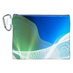 Light Means Net Pink Rainbow Waves Wave Chevron Green Blue Canvas Cosmetic Bag (xxl) by Mariart