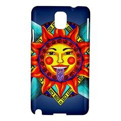 Aztec Sun Stone Samsung Galaxy Note 3 N9005 Hardshell Case by retz