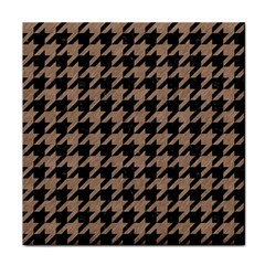 Houndstooth1 Black Marble & Brown Colored Pencil Face Towel by trendistuff