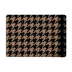 Houndstooth1 Black Marble & Brown Colored Pencil Apple Ipad Mini Flip Case by trendistuff