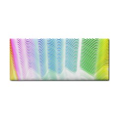 Light Means Net Pink Rainbow Waves Wave Chevron Green Cosmetic Storage Cases by Mariart