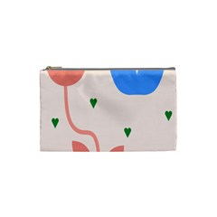 Lip Sexy Flower Tulip Heart Pink Red Blue Green Love Cosmetic Bag (small)  by Mariart