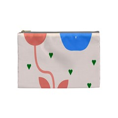 Lip Sexy Flower Tulip Heart Pink Red Blue Green Love Cosmetic Bag (medium)  by Mariart