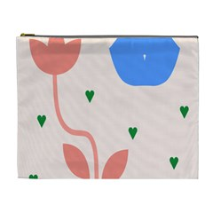 Lip Sexy Flower Tulip Heart Pink Red Blue Green Love Cosmetic Bag (xl) by Mariart