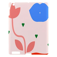 Lip Sexy Flower Tulip Heart Pink Red Blue Green Love Apple Ipad 3/4 Hardshell Case by Mariart