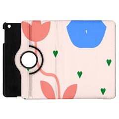 Lip Sexy Flower Tulip Heart Pink Red Blue Green Love Apple Ipad Mini Flip 360 Case by Mariart