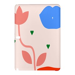 Lip Sexy Flower Tulip Heart Pink Red Blue Green Love Samsung Galaxy Tab Pro 12 2 Hardshell Case by Mariart