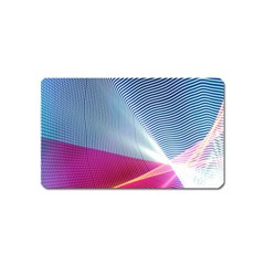 Light Means Net Pink Rainbow Waves Wave Chevron Red Magnet (name Card) by Mariart
