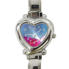 Light Means Net Pink Rainbow Waves Wave Chevron Red Heart Italian Charm Watch by Mariart