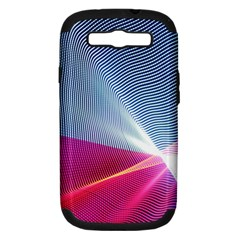 Light Means Net Pink Rainbow Waves Wave Chevron Red Samsung Galaxy S Iii Hardshell Case (pc+silicone) by Mariart