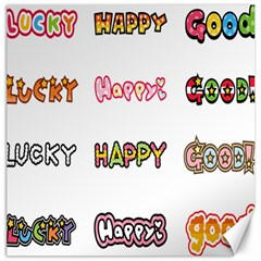 Lucky Happt Good Sign Star Canvas 20  X 20   by Mariart