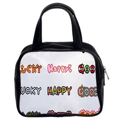 Lucky Happt Good Sign Star Classic Handbags (2 Sides) by Mariart