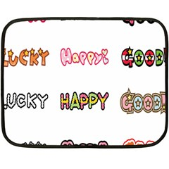 Lucky Happt Good Sign Star Double Sided Fleece Blanket (mini)  by Mariart