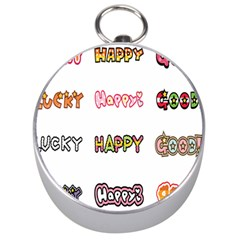 Lucky Happt Good Sign Star Silver Compasses by Mariart