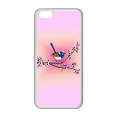 Little Blue Wren Apple Iphone 5c Seamless Case (white) by retz